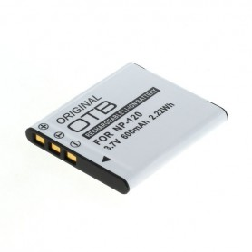 OTB - Battery for Casio NP-120 600mAh - Casio photo-video batteries - ON2732-C www.NedRo.us