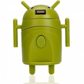 Android-stijl multifunctionele reisstekker-adapter Groen