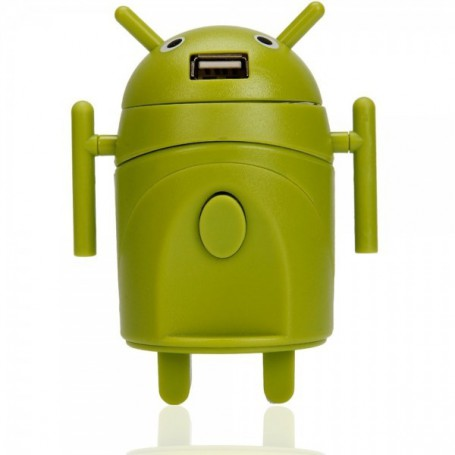 Oem - Android Style Multi-Function Travel Power Plug Adaptor Green - Plugs and Adapters - WW88008169
