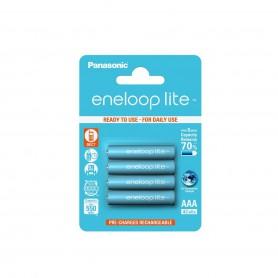 Eneloop - AAA R3 Panasonic Eneloop Lite 550mAh 1.2V Oplaadbare Batterijen - AAA formaat - NK035-10x www.NedRo.nl
