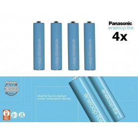 Panasonic - AAA R3 Panasonic Eneloop Lite 1.2V 550mAh Rechargeable Battery - Size AAA - NK037-CB