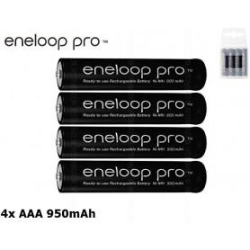 Panasonic - AAA R3 Panasonic Eneloop PRO Rechargeable Battery - Format AAA - NK055-C www.NedRo.ro