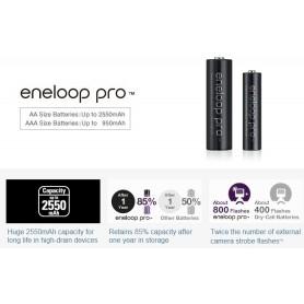 Eneloop - Panasonic eneloop PRO AAA / Micro / HR03 /R3 900mAh 1.2V chargeable battery - Size AAA - NK055-CB