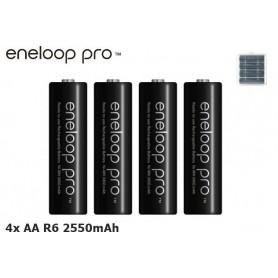 Eneloop - AA HR6 Panasonic Eneloop PRO 2550mAh 1.2V Rechargeable Battery - Size AA - NK060-C www.NedRo.us