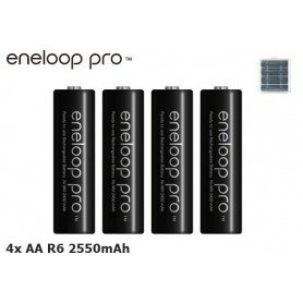 Eneloop, AA HR6 Panasonic Eneloop PRO 2550mAh 1.2V Rechargeable Battery, Size AA, NK060-CB, EtronixCenter.com