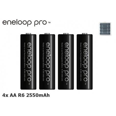 Panasonic - AA HR6 Panasonic Eneloop PRO Rechargeable Battery - Format AA - NK060 www.NedRo.ro