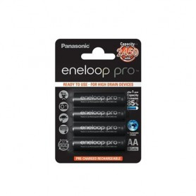 Eneloop, Panasonic eneloop Pro AA R6 2550mAh 1.2V Rechargeable Battery, Size AA, ON1315-CB, EtronixCenter.com