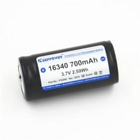 KeepPower - 700mAh KeepPower 16340 Oplaadbare batterij - Andere formaten - NK074 www.NedRo.nl