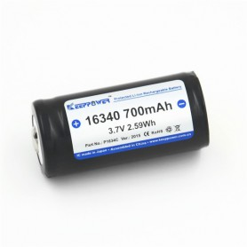KeepPower - KeepPower 16340 700mAh 1.2A Rechargeable Battery - Other formats - NK074 www.NedRo.us