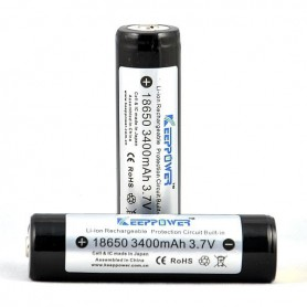 KeepPower, KeepPower 18650 Rechargeable battery 3400mAh, Format 18650, NK297-CB, EtronixCenter.com
