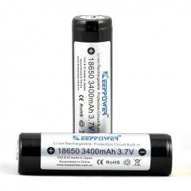 KeepPower - KeepPower 18650 Rechargeable battery 3400mAh - Size 18650 - NK297 www.NedRo.us