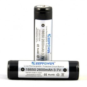 KeepPower - KeepPower 18650 2600mAh rechargeable battery - Size 18650 - NK217-CB www.NedRo.us