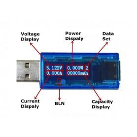 NedRo - OLED USB detector voltmeter ammeter capacity tester - Testapparatuur - AL736 www.NedRo.nl