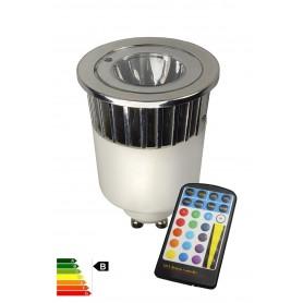 "Calex, LED GU10 240V 5W ""wissel kleur"" met afstandbediening CA027, GU10 LED, CA027, EtronixCenter.com"