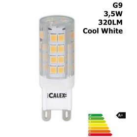 Calex, LED G9 240V 3,5W 320LM 4000K Clear Lens Cool White CA030, G9 LED, CA030