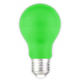 Calex, E27 1W Green LED GLS-lamp A60 240V 12lm CA032, E27 LED, CA032, EtronixCenter.com