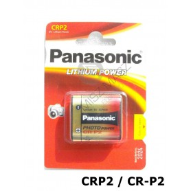 Panasonic, Panasonic LITHIUM Power CRP2 CR-P2 battery blister NK087, Other formats, NK087-CB, EtronixCenter.com