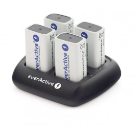 EverActive - everActive 4x 9V Professional Charger NC-109 (EU Plug) - Battery chargers - BL135 www.NedRo.us