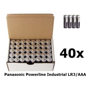 Panasonic - 40-Pack Panasonic Powerline Industrial LR3/AAA BULK - AAA formaat - BL150 www.NedRo.nl
