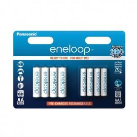 8x Panasonic eneloop AA/AAA 4+4 Oplaadbare Power-Pack
