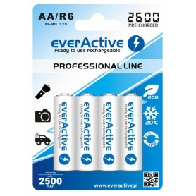 R6 AA 2600mAh everActive Professional Line Rechargeable batteries