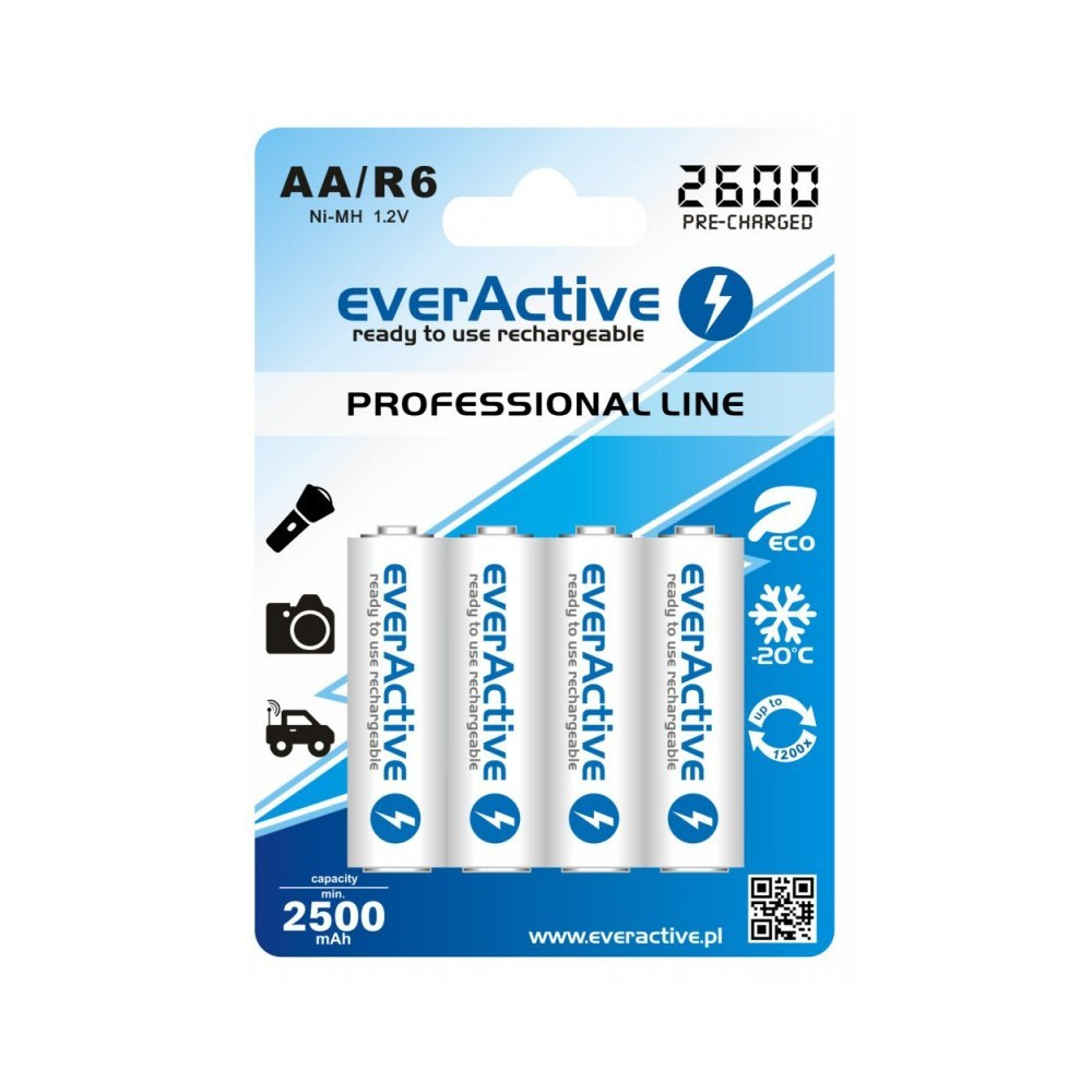 EverActive - R6 AA 2600mAh Rechargeables everActive Professional - Format AA - BL156 www.NedRo.ro