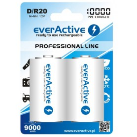 EverActive - R20 D 10000mAh Rechargeables everActive Professional - Size C D and XL - BL158 www.NedRo.us
