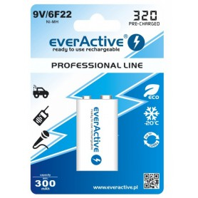 EverActive - 9V 6F22 320mAh Rechargeables everActive Professional - Andere formaten - BL159 www.NedRo.nl