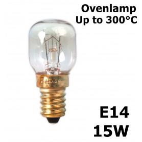 Calex, Ovenlamp 240V 15W E14 300 C 22x49mm CA058, E14, CA058, EtronixCenter.com
