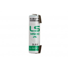 SAFT, U-Tag SAFT LS14500 / AA lithium battery 3.6V, Size AA, NK097-CB