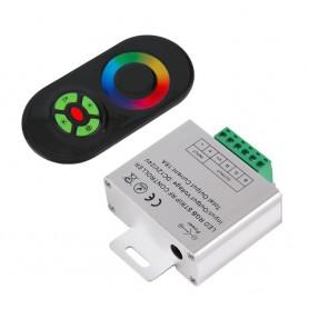 NedRo - RF Touch Controller en Remote voor RGB LED strips Zwart AL265 - LED Accessoires - AL265 www.NedRo.nl