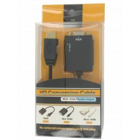 NedRo - HDMI naar VGA + Audio Converter Kabel YPC288 - HDMI adapters - YPC288 www.NedRo.nl