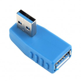 NedRo - USB 3.0 Type A Adapter Male naar Female Linkse Hoek AL661 - USB adapters - AL661 www.NedRo.nl