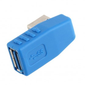 NedRo - USB 3.0 Type A Adapter Male to Female Left Angled AL661 - USB adapters - AL661 www.NedRo.us