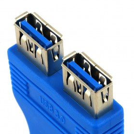 NedRo - USB 3.0 Pinheader F 20pin to Dual USB 3.0 Female AL662 - USB adapters - AL662