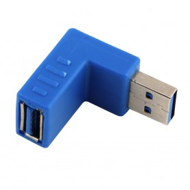 NedRo - USB 3.0 Type A Adapter Male naar Female Hoek Omlaag AL663 - USB adapters - AL663 www.NedRo.nl