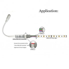 Oem - RGB Mini Controller to DC Out socket AL333 - LED Accessories - AL333