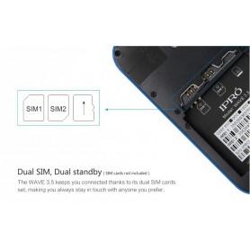 NedRo - iPro i9355 Dual SIM 3.5 Inc. Smartphone Android 4.4 Wit AL296 - Telefoon toestellen - AL296 www.NedRo.nl