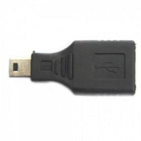 NedRo - Adapter verloopstuk USB A F naar mini USB B 5 Pin M AL012 - USB adapters - AL012 www.NedRo.nl