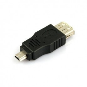 Adapter verloopstuk USB 2.0 A F naar Mini USB M AL789