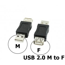 NedRo - USB 2.0 A Female - Male Adapter - USB adapters - AL848 www.NedRo.nl
