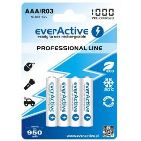 EverActive - everActive Ni-MH R03 AAA 950mAh Professional Line - Format AAA - BL168 www.NedRo.ro