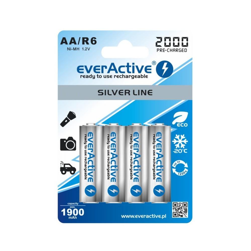 EverActive - everActive Ni-MH R6 AA 2000 mAh Silver Line - Format AA - BL170 www.NedRo.ro