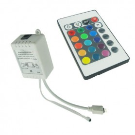 NedRo, RGB LED IR Remote Controller 24 buttons + cabinet Male AL822, LED Accessories, LCR18-M, EtronixCenter.com