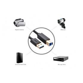 UGREEN, 2M Cablu USB 3.0 A M la B M cable Gold Plated negru UG007, Cabluri imprimantă, UG007, EtronixCenter.com