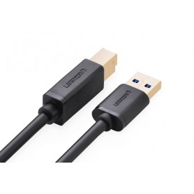 UGREEN - 2M USB 3.0 A M to B M cable Gold Plated Cable black UG007 - Printer cables - UG007 www.NedRo.us