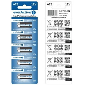 everActive A23 23A 12V 55mAh Alkaline batteries