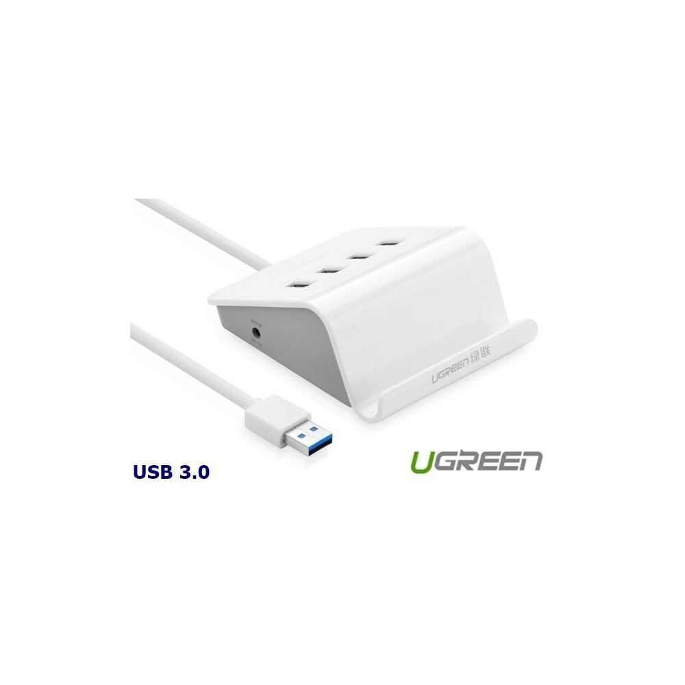 4 Ports USB 3.0 HUB with Power Adapter and Cradle UG036