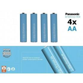 Eneloop - AA R6 Panasonic Eneloop Lite 1.2V 1000mAh Oplaadbare Batterijen - AA formaat - NK120-C www.NedRo.nl