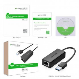 UGREEN - USB3.0 10/100/1000Mbps Ethernet Network Adapter - Network adapters - UG039-CB
